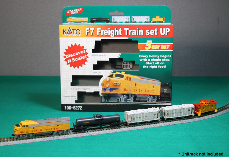Kato N Scale Union Pacific F7 Freight Train Starter Set New 1066272 on kato n scale train sets